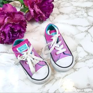 Converse Chucks Purple Multi-Color Sneakers